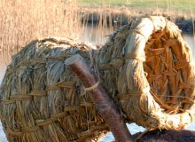 Demo eendenkorf vlechten en droogvilten