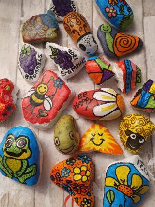 Happy stones maken en zoeken